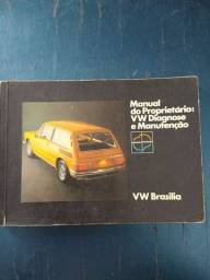 Manual do proprietário da Brasilia 1974
