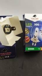 Lâmpada LED H4 Stallion 8000K Efeito Azulado