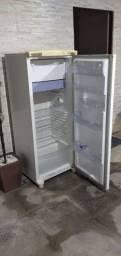 Geladeira e forno microondas