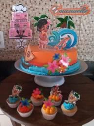 Kits festa (bolo, doces e salgados) 85,00$