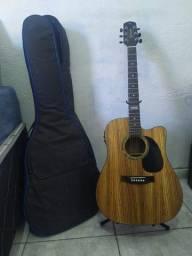 Violão Giannini Gf 1d CeQ Zw Folk Cutway + Capa