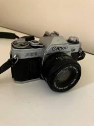 Canon AE-1 35mm Camera SLR de Filme com lente 50mm