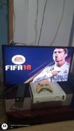 Xbox 360 Fat branco desbloqueado funcionando perfeitamente