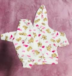 Conjunto soft para bebês com capuz