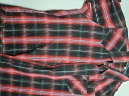 Título do anúncio: camisa xadrez vermelha masculina Tamanho G
