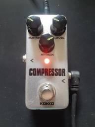 Pedal Compressor - Guitarra, baixo e violão.