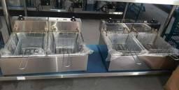 Fritadeiras em inox (profisisonais) elétricas.