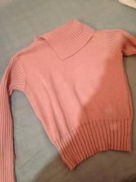 Blusa rosa de lã