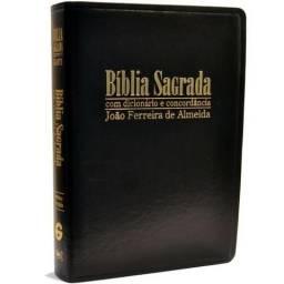 Bíblia Sagrada Gigante com Dicionário e Concordância - Capa Luxo Preta
