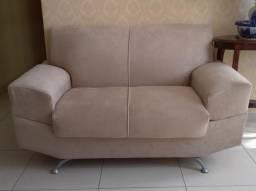 Sofa Semi-Novo Cor Bege Claro