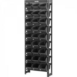 Estante metálica com gavetas, modelo prático 27/5, Vonder (Novo)