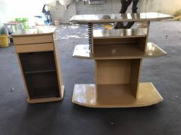 Mesa de cabeceira e Rack