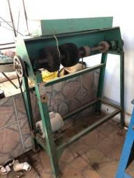 Máquina de acabamento lixadeira completa para sapataria com aspirador, friza e boneca
