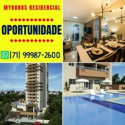 Mykonos Residencial, 3 quartos com suíte e closet em 70m² com 1 ou 2 vagas