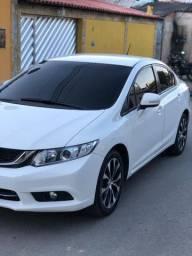 Honda civic 2015 lxr 2.0 branco oportunidade