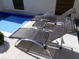 Espreguiçadeira cadeira de piscina ALUMÍNIO