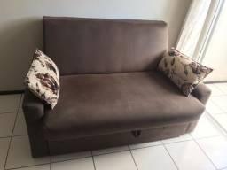 Sofá cama com baú incluso