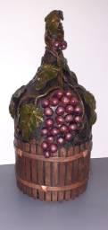Garrafa de vinho decorada