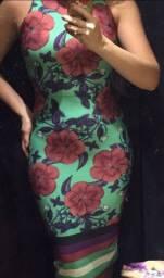 Vestido midi florido verde