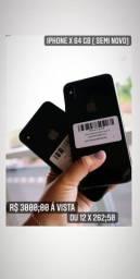 Vendo Iphone X 64Gb semi novo.