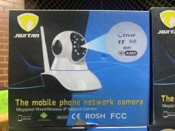 Câmera Ip Robô 360° Wi - fi Visão Noturna Infravermelho - Jortan