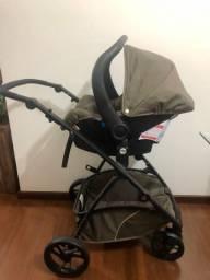 Carrinho bebê conforto e base para o carro