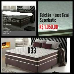 Colchão + base Casal Superlastic D33/ Frete Grátis para maioria dos bairros.