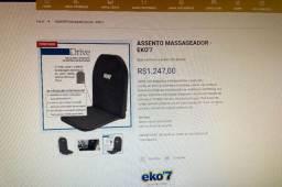 Assento Massageador EKO 7 - Usado uma única vez, valor dele em lojas é 1300
