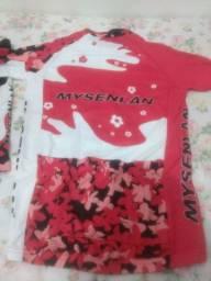 Conjunto feminino ciclismo Tam. M