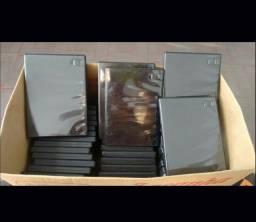 Vendo 43 caixas porta DVDs