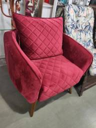Poltrona Decorativa Alta Qualidade Hiper Confortável