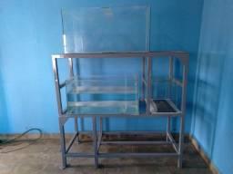 Aquarios- 40L / 150L / 200L e suporte metal pintado esmalte