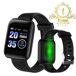 Smartwatch D13 Femino e Masculino á prova dágua