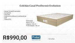 Colchão Casal Pro Dormir Evolution/ Frete Grátis para maioria dos bairros.
