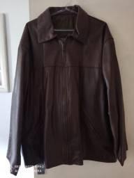 Jaqueta de couro legítimo marrom