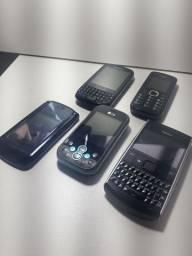 Kit 5 aparelhos de celulares antigos para peças ou museu