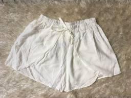 Short Viscose Branco Novo