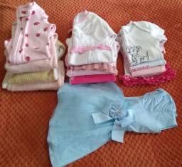 Lote de roupas menina de 3 a 6 meses