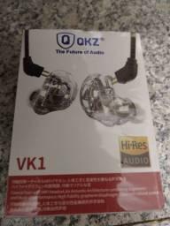 In ear fone intra auricular qkz vk1 profissional