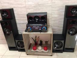 Home Theater Sony Muteki Str-Km3 Com Caixas 1200w Rms 5,2