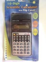 Calculadora Científica Bazic 10 Dígitos 56 Funções Com Flip Cover