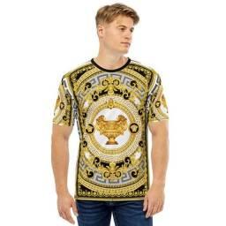 Camiseta Luxo Estilosa Vintage Versace - Malha fria