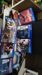 PS4 pro ,controle roxo claro novo 8 jogos físicos alguns lançamentos modelo cuh 7116b