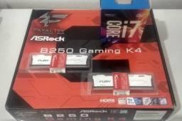 Kit Intel Core i7-7700 + Placa mãe Asrock B250 Fatal1ty + Memórias Ram HyperX Fury 2x8GB