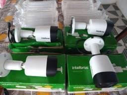 Vende se câmeras HD Intelbras Nova na caixa as 4 por 500 reais menor valor.