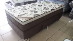 ::: Cama Box + Colchao ortobom Solteirao 108x188 A Pronta Entrega
