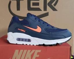 Nike Airmax 90 azul/laranja (PROMOÇÃO)