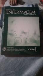 3 livros de Enfer + Estetoscópio e esfigmomanômetro + aparelho digital de pressão.