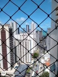 Próximo ao Shopping Recife andar alto 114,63m² 3 quartos mais dependência.