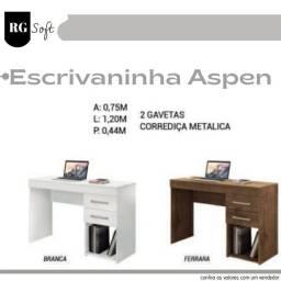 Escrivaninha Aspen com duas Gavetas (entrega gratuita)